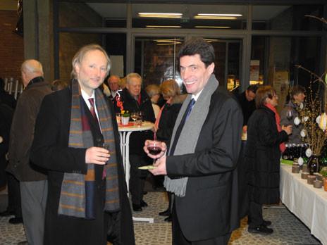Pfarrer Peter Meyer und KMD Andreas Hantke