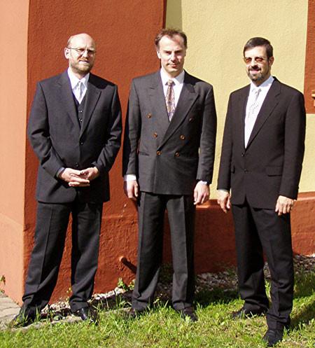 "Ensemble ""Tre Cantores"" vor der Christuskirche"